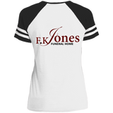 FK Jones Funeral Home DM476 Disctrict Ladies' Game V-Neck T-Shirt