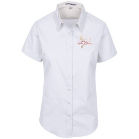 Tri-Cities Funeral Home L508 Port Authority Ladies' Short Sleeve Easy Care Shirt