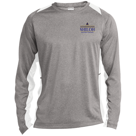 Shiloh Baptist Church ST361LS Sport-Tek LS Heather Colorblock Poly T-Shirt