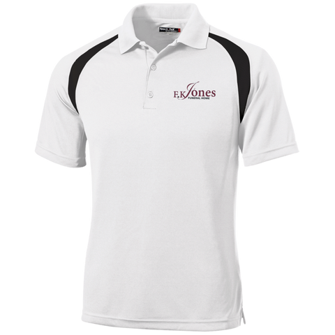 FK Jones Funeral Home T476 Sport-Tek Moisture-Wicking Tag-Free Golf Shirt