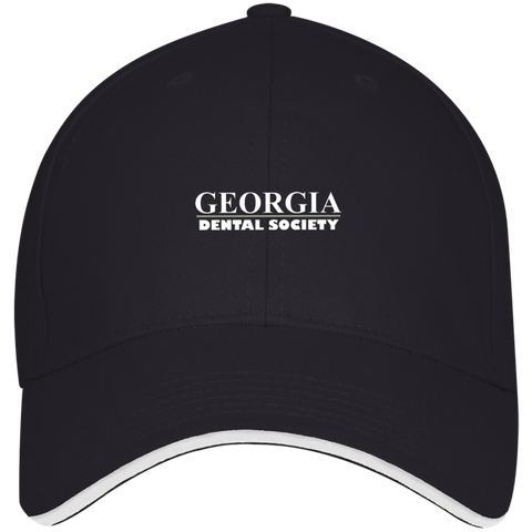 Georgia Dental Society (GDS) 3621 Bayside USA Made Structured Twill Cap With Sandwich Visor