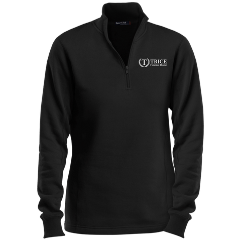 Trice Funeral Home LST253 Sport-Tek Ladies' 1/4 Zip Sweatshirt