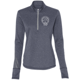 NFD&MA A275 Adidas Ladies' Terry Heather 1/4 Zip
