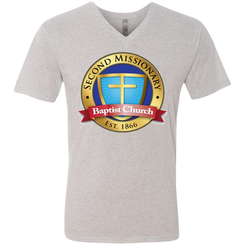 Second Missionary Baptist Church NL6040 Next Level Men's Triblend V-Neck T-Shirt