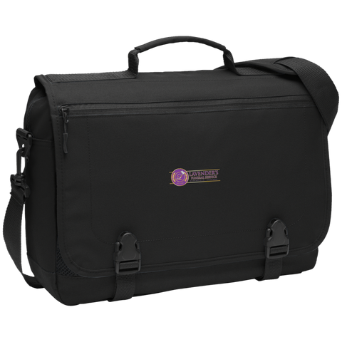 Lavenders Funeral Service BG304 Port Authority Messenger Briefcase