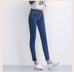 High Ankle skinny blue jeans