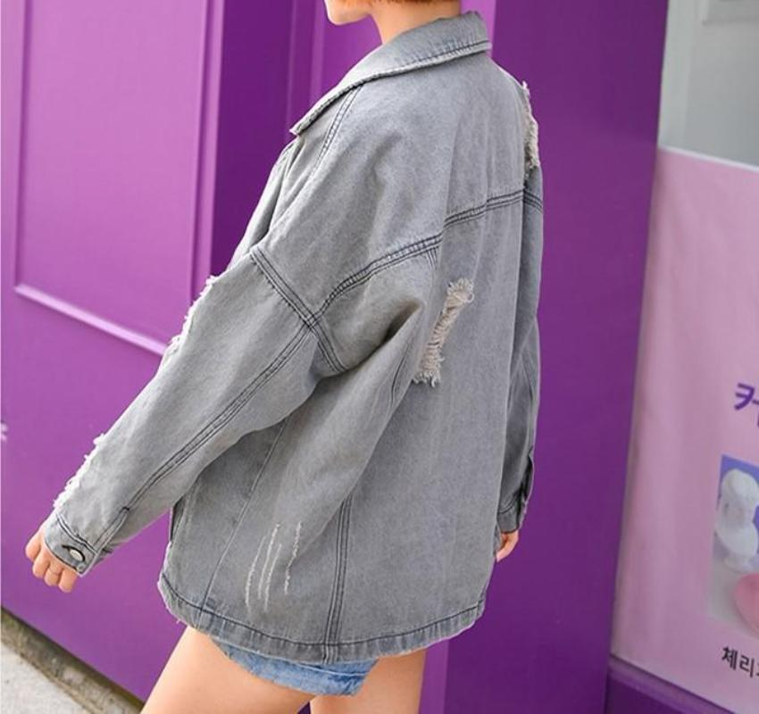 Grey Stylish Denim Jacket