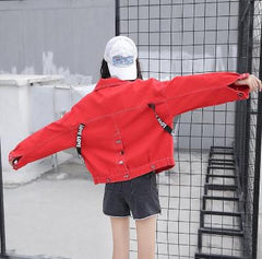 Red korean style jacket