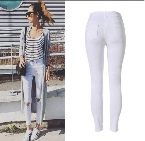 white denim trouser