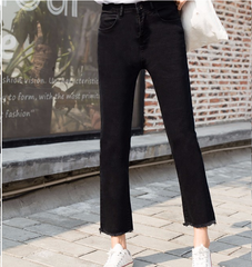 Black jeans of korean fashion
