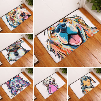 TO DO Bath Mat Cartoon Dog Printed Carpet Suede Absorbent Shower Bathroom Mat Toilet Rugs Kitchen Mat Home Decoration Wholesale - Lucibell