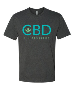 CBD Fit Recovery T-Shirt - Charcoal Gray