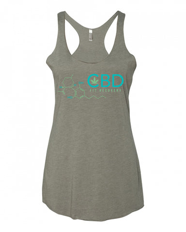 CBD Fit Recovery Ladies Tank Top - CBD Fit Recovery
