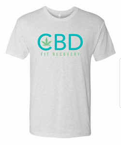 CBD Fit Recovery T-Shirt - Heather White