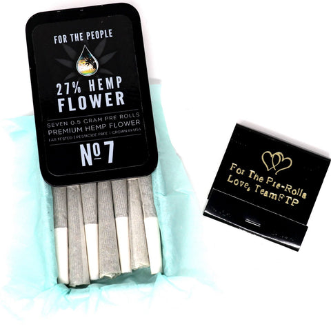 CBD Flower Pre-rolled Joints (7 pack) + Matches