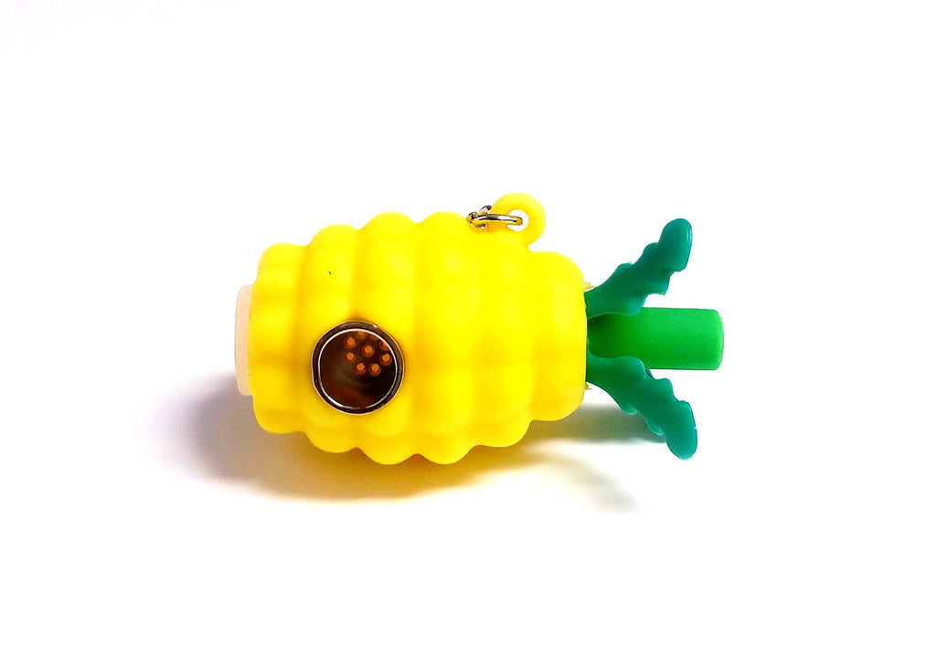 Pineapple Silicone Key Chain Pipe