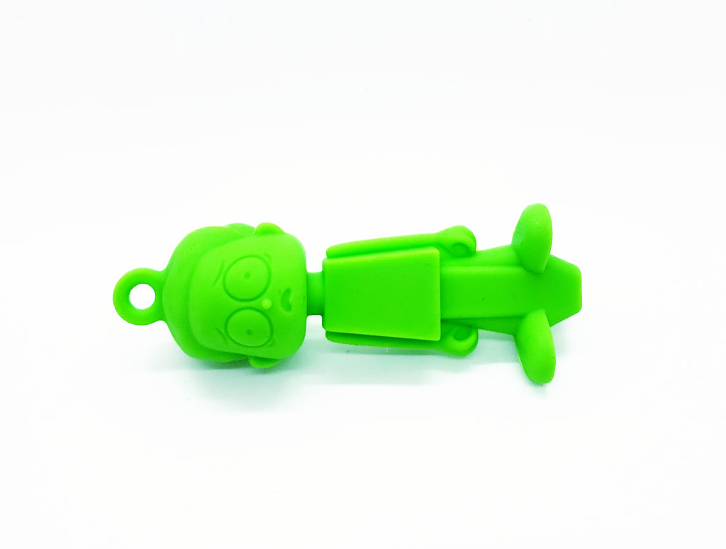 Green Morty Silicone Pipe