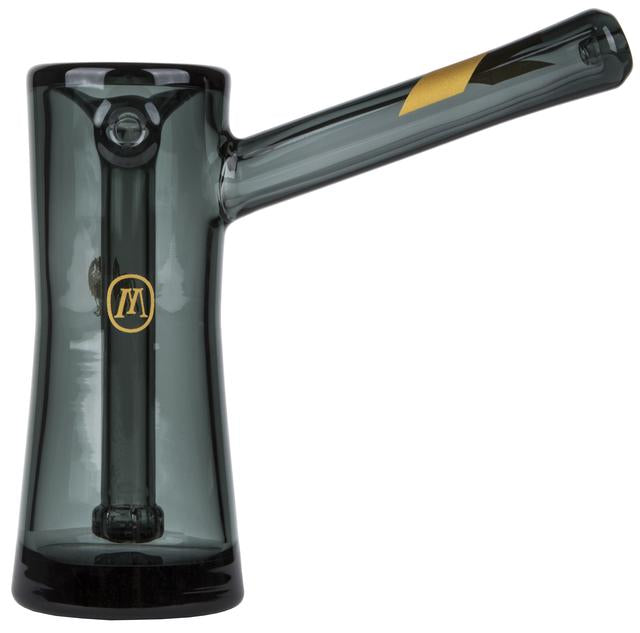 "6"" Black Glass Bubbler By Marley Natural"