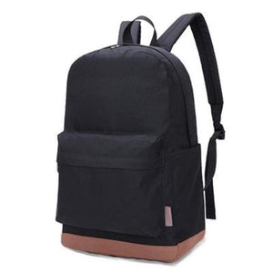"Canvas Backpack, 15""-Bags-The Daily Vintage-Black-The Daily Vintage"