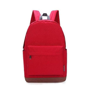 "Canvas Backpack, 15""-Bags-The Daily Vintage-Bright Red-The Daily Vintage"