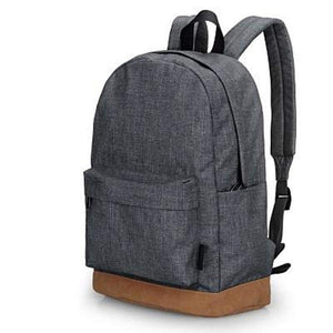 "Canvas Backpack, 15""-Bags-The Daily Vintage-Gray-The Daily Vintage"
