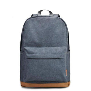"Canvas Backpack, 15""-Bags-The Daily Vintage-Light Gray-The Daily Vintage"