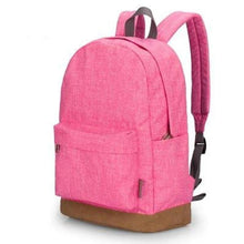 "Canvas Backpack, 15""-Bags-The Daily Vintage-Pink-The Daily Vintage"