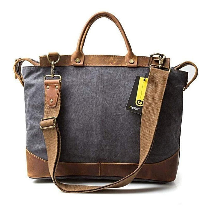 Canvas Cargo Bag, Rustic Design-Bags-The Daily Vintage-The Daily Vintage