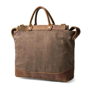 Canvas Cargo, Rustic Design-Bags-The Daily Vintage-One Size-Coffee-Canvas-The Daily Vintage