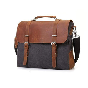 Canvas Messenger Bag, Rustic-Bags-The Daily Vintage-The Daily Vintage
