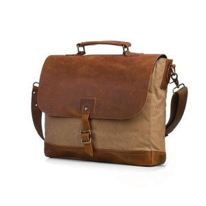 Canvas Messenger Bag with Padded Interior-Bags-The Daily Vintage-The Daily Vintage