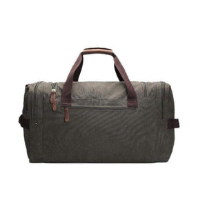 Duffel Bag, Canvas and Leather-Travel Bags-The Daily Vintage-The Daily Vintage