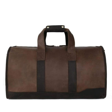 Duffel Bag, Leather-Travel Bags-The Daily Vintage-One Size-Vintage Brown-Leather-The Daily Vintage