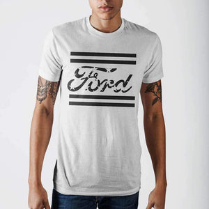 Ford Americana White T-Shirt-T-Shirt-Ford-S-White-T-Shirt-The Daily Vintage