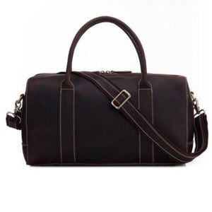 Full Grain Leather Weekender-Bags-The Daily Vintage-The Daily Vintage