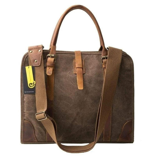 Messenger, Canvas Briefcase Style-Bags-The Daily Vintage-The Daily Vintage