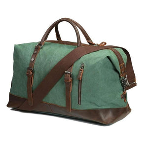 Vintage Canvas Weekender-Luggage-The Daily Vintage-One Size-Green-Canvas-The Daily Vintage