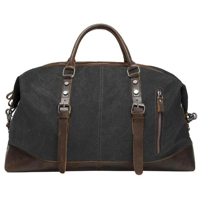 Vintage Canvas Weekender-Luggage-The Daily Vintage-One Size-Grey-Canvas-The Daily Vintage