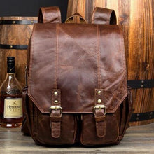Vintage Leather Backpack-Bags-The Daily Vintage-Dark Brown-Leather-The Daily Vintage