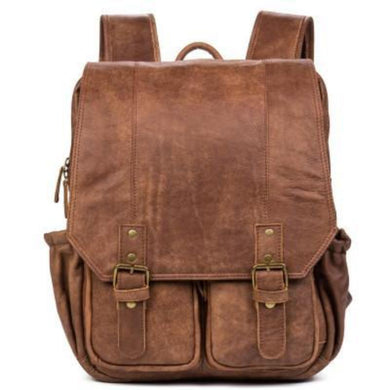 Vintage Leather Backpack-Bags-The Daily Vintage-Retro Brown-Leather-The Daily Vintage