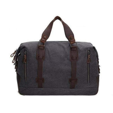 Weekender, Canvas, Military Style-Luggage-The Daily Vintage-Dark Gray-The Daily Vintage