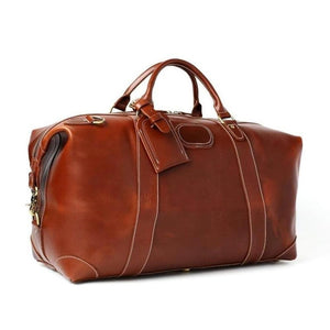 Weekender, Handmade Full Grain Leather-Luggage-The Daily Vintage-One Size-Reddish Brown-Leather-The Daily Vintage