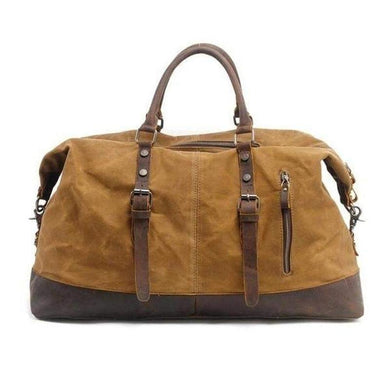 Weekender, Heavy Canvas Construction-Luggage-The Daily Vintage-Khaki-The Daily Vintage