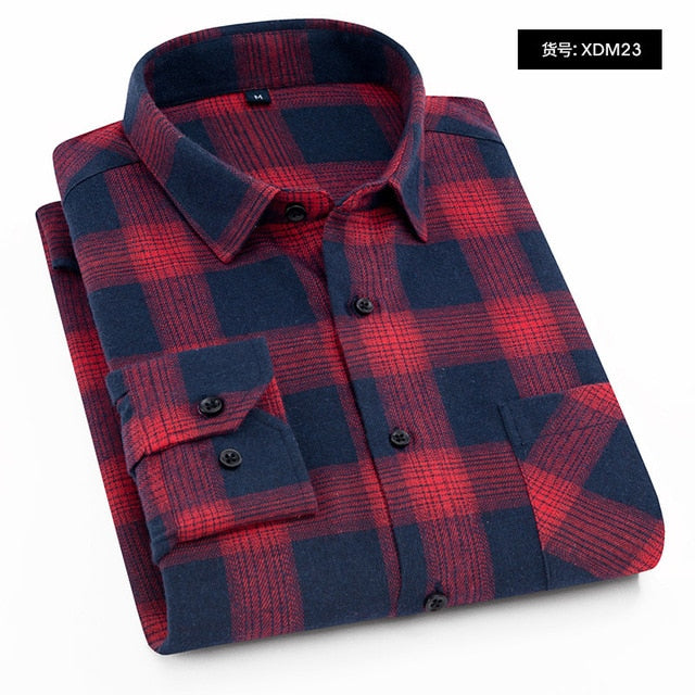 Men's Regular-Fit Long-Sleeve Plaid Flannel Shirt - United Retail Outlet