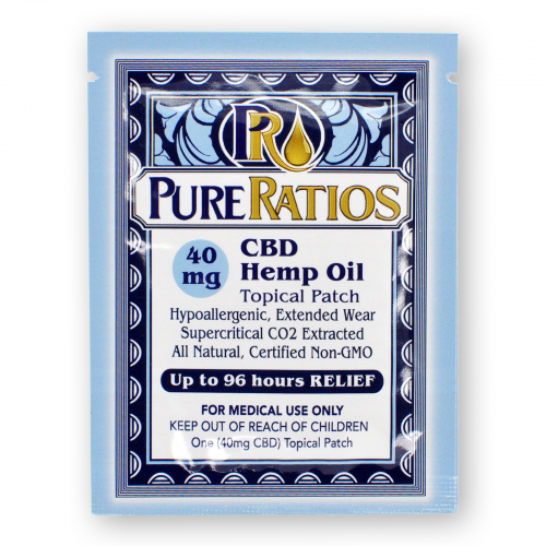 PURE RATIOS 40MG CBD Transdermal Patch