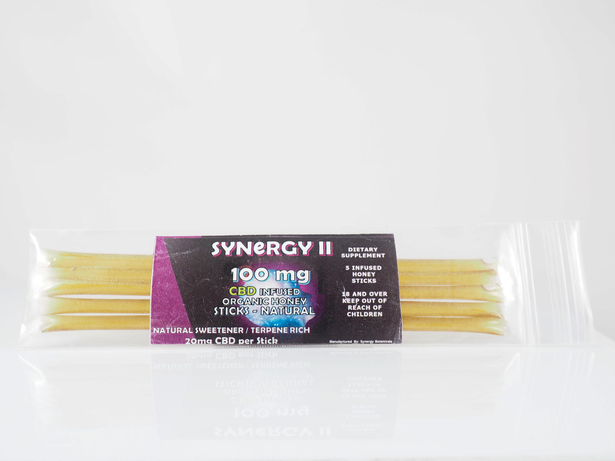 Synergy II CBD Infused Honey Sticks 100 mg