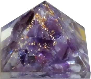 25-30mm Orgone Amethyst Pyramid - 90 Days From Now Manifestation Planner