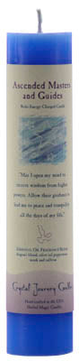 Ascended Master & Guides Reiki Charged Pillar Candle - 90 Days From Now Manifestation Planner