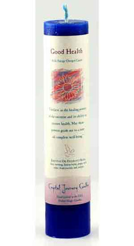 Good Health Reiki Charged Pillar Candle - 90 Days From Now Manifestation Planner