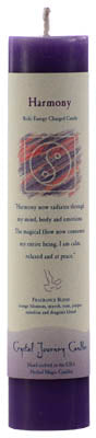 Harmony Reiki Charged Pillar Candle - 90 Days From Now Manifestation Planner